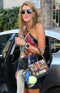 Anna Dello Russo, handbag from Fendi.